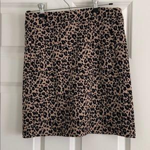 Loft cheetah print skirt